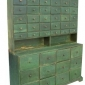 19th-century-two-piece-apothecary-stepback-cupboard-in-green-paint