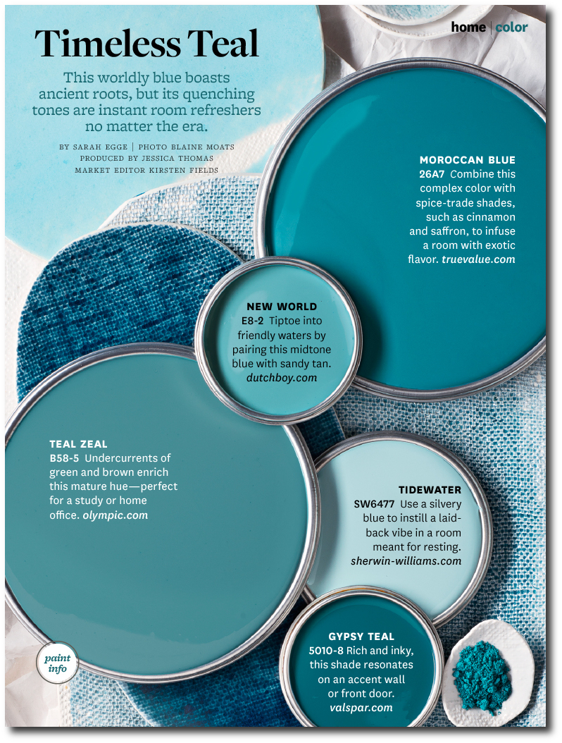 30 of better home and gardens featured paint shades for How to make teal paint