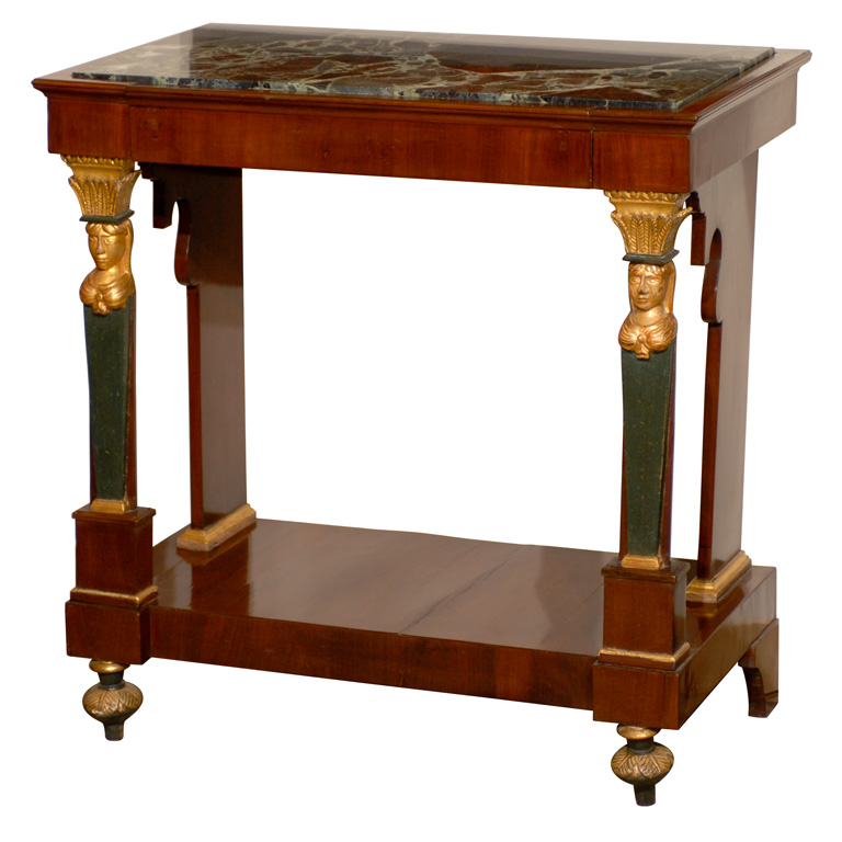 petite-empire-console-with-marble-top-france-19th- - How Decorate With French Empire Antiques ( 6 Tips )