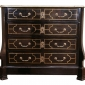 A Louis XIV Ebony and Brass Inlaid Commode Seller Rose Uniacke
