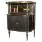 Jansen Ebonized Marble Top Curio Cabinet Greenwich Living