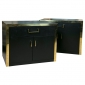 Pair Ebonized Side Cabinets by John Stuart  Greenwich Living