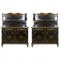 Pair of Ebonized Etageres Stamped Jansen Greenwich Living