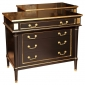 Pair of Maison Jansen Ebonized Chests Greenwich Living