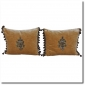 19th Century Metallic and Chenille Appliqued Pillows Melissa Levinson Antiques