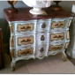 ITALIAN PAINTED 3 DRAWER CHEST WITH FAUX MARBLE TOP Seller Sobeart On Ebay