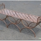 Large Mid Century Modern Italian Wrought Iron Window Bench Seller  kykinj On ebay
