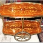 Luxurious Italian Antique Inlaid Tea Cart Circa 1915 SOld through Collectors Choice 832 On Ebay