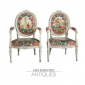 Neoclassic Painted Arm Chairs Gary Rubinstein Antiques Palm Beach