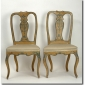 Rare Pair Antique Italian Venice 18th c Painted Chairs Ebay Seller AR