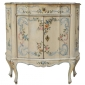 Vtg Italian Venetian Distress Painted Faux Marble Top Demilune Console Cabinet Seen On Quality Is Key On ebay