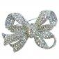 bridal-silver-tone-bowknot-clear-austrian-crystal-brooch