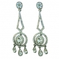 bridal-silver-tone-flower-clear-austrian-crystal-dangle-earrings