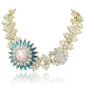 gold-tone-art-deco-flower-clear-blue-austrian-crystal-statement-necklace