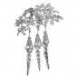 tassel-orchid-brooch-clear-austrian-crystal-bridal-silver-tone