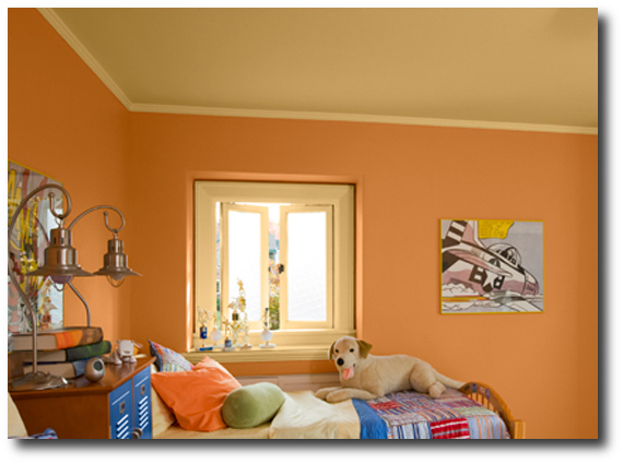 Pumpkin Orange Paint are you picking the wrong color for your ceiling?