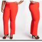 Solid Trouser Pant In Tomate- Ashley Stewart