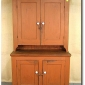 cupboard-early-stepback-cupboard-old-salmon-red-paint-seen-at-live-auctioneers