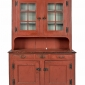 pennsylvania-painted-pine-dutch-cupboard-ca-1800-retaining-a-later-salmon-decorated-surface-seen-at-pook-and-pook-auctions
