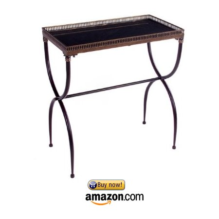 IMAX-12004-Rectangular-X-Leg-Accent-Wrought-Iron-Table-Black