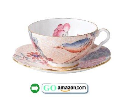 Wedgwood-Harlequin-Cuckoo-Tea-Story-Teacup-and-Saucer-Peach