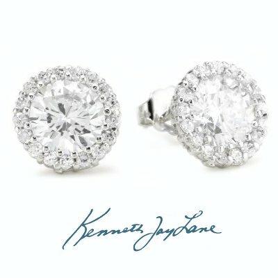 Kenneth Jay Lane Round CZ Stud Earrings FoHfkZe