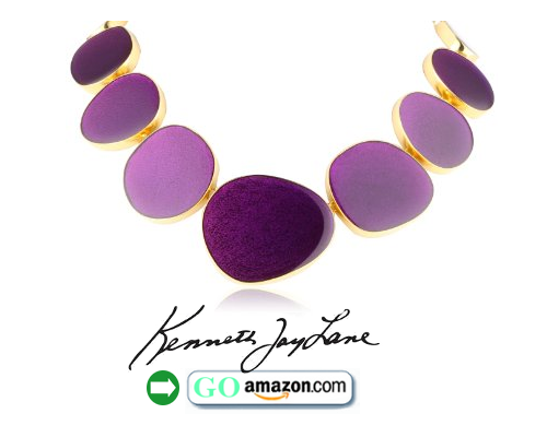 Enamel Flat Disc Necklace
