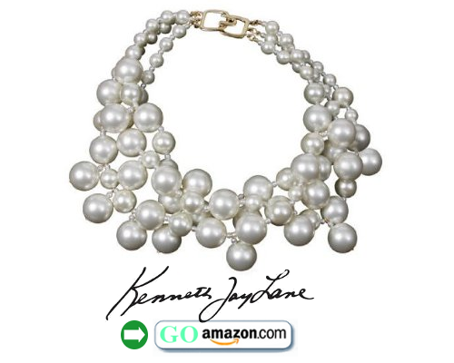 Bubble Pearls Necklace by Kenneth Jay Lane 22k Gold Overlay Clasp