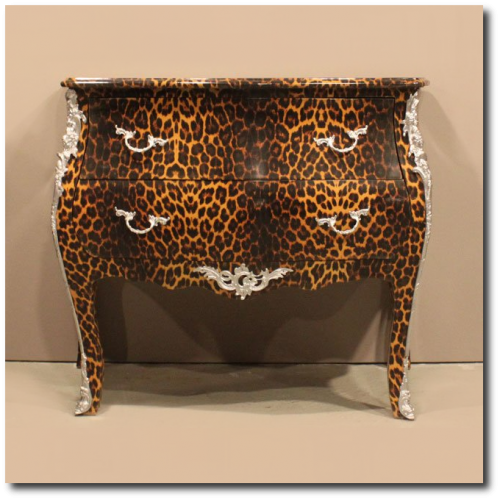 French Cheetah Print Commode From Alibaba