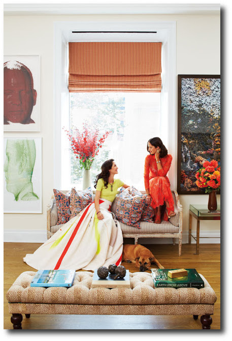 Patricia Herrera Lansing's New York Apartment was featured in both harpersbazaar.com & vogue.com-