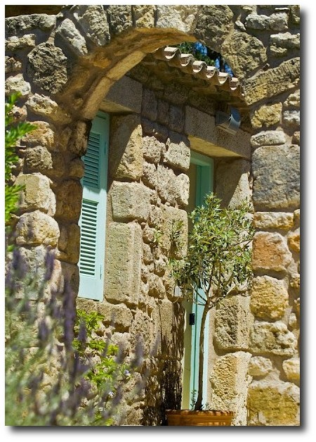 Country Home in Greece,Decorated around the color Turquoise