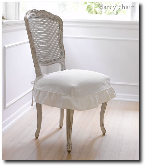Darcy Chair With Oyster Linen Slip