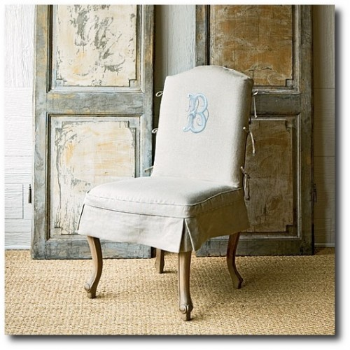 Hand-painted-version-of-a-traditionally-embroidered-monogram-chair-slipcover-designed-by-Betty-Burgess-500x500