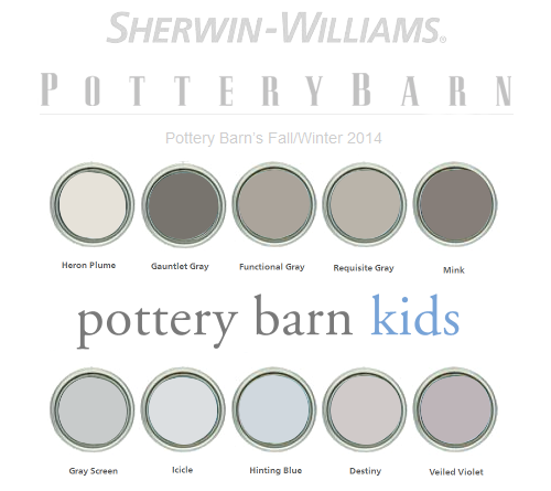 Pottery Barn 2014 Paint Colors