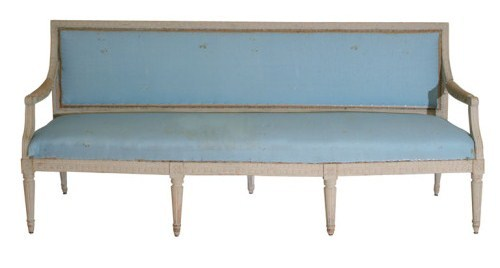 Swedish sbench from the Gustavian period 1790-1810 in its original paint- Old Is New Blog