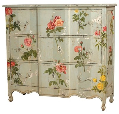Rose Painted Chest Of Drawers Dresser French Design Sold By Ambiance Chateau
