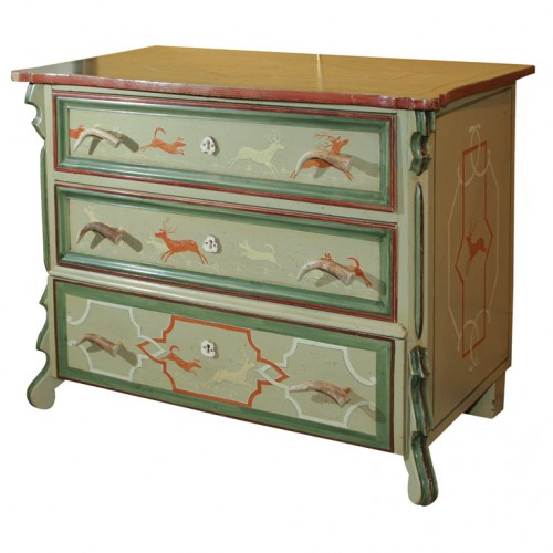 Black-Forest-Cottage-Chest-of-3-Drawers-Painted-Horn-Handles-Seller-The-Antiques-Artisan-Center-500x500