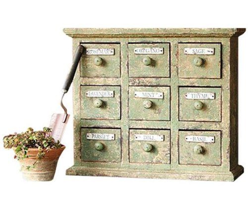 Braeside Aged Herbal Apothecary Cabinet