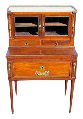 Directoire Style Bronze Mounted Ladies Desk Vanity $1695, Keywords:Directoire Style Furniture, Jansen Style Furniture, French Louis XVI furniture, French Furniture, Antique French Furniture, Maison Jansen
