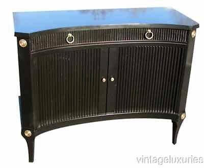 Ebonized Tambour Front Commode $2495, Keywords:Directoire Style Furniture, Jansen Style Furniture, French Louis XVI furniture, French Furniture, Antique French Furniture, Maison Jansen