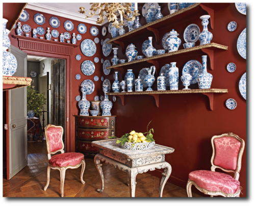 Andrew Gn's Apartment,Decorating With China, Decorating With Plates, Plate Displays, Sconces