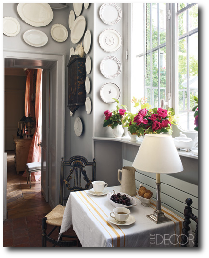 Andrew Gn's Apartment, Decorating With China, Decorating With Plates, Plate Displays, Sconces