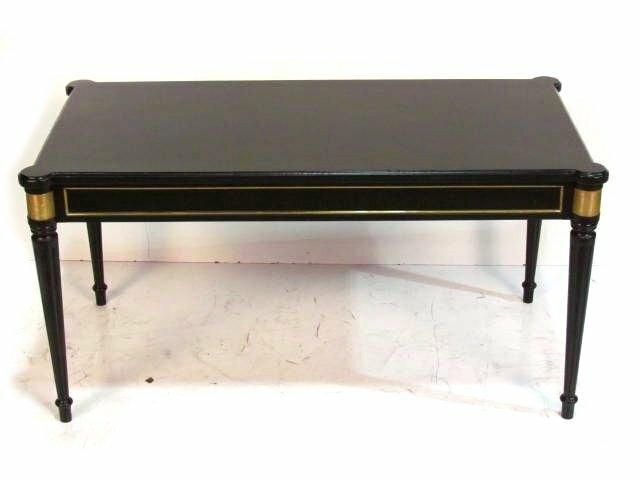 Jansen Louis XVI Style Bronze Mounted Ebonized Coffee Table,  Keywords:Directoire Style Furniture,