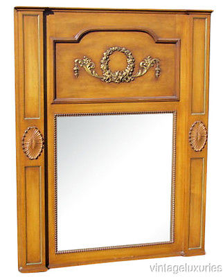 Large Carved Louis XVI Style Trumeau Mirror, Keywords:Directoire Style Furniture, Jansen Style Furniture, French Louis XVI furniture, French Furniture, Antique French Furniture, Maison Jansen