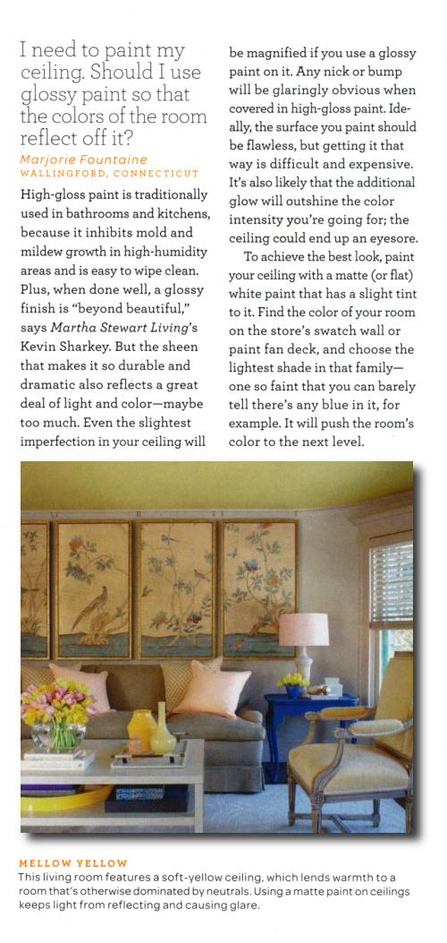 Martha-Stewart-April-2011-10, Ceiling Paint Colors, Paint Color Advice, Best Ceiling Paint Colors, Expert Design Advice, Pro Painting Advice