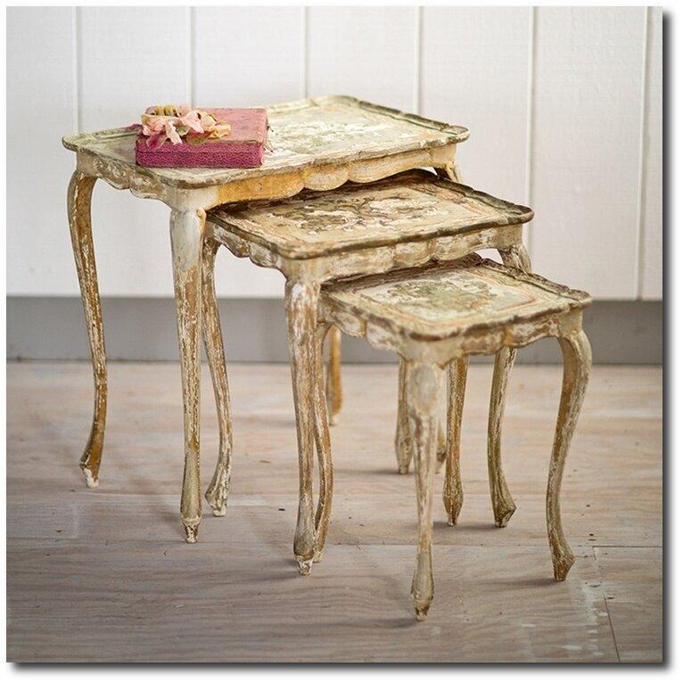 Rachel Ashwell Shabby Chic Couture   Florentine Nesting Side Tables, Rachel  Ashwell, White Decorating