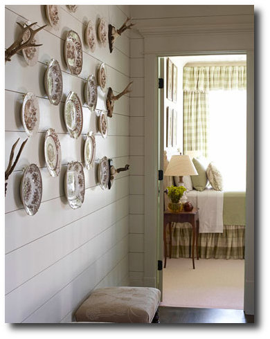 Rustic Decorating - Plate Hanging Phoebe Howard, Decorating With China, Decorating With Plates, Plate Displays, Sconces