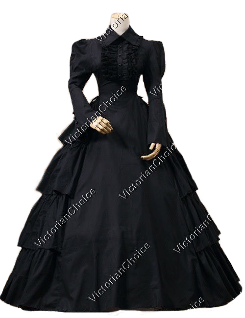 Victorian Gothic Black Dress Ball Gown