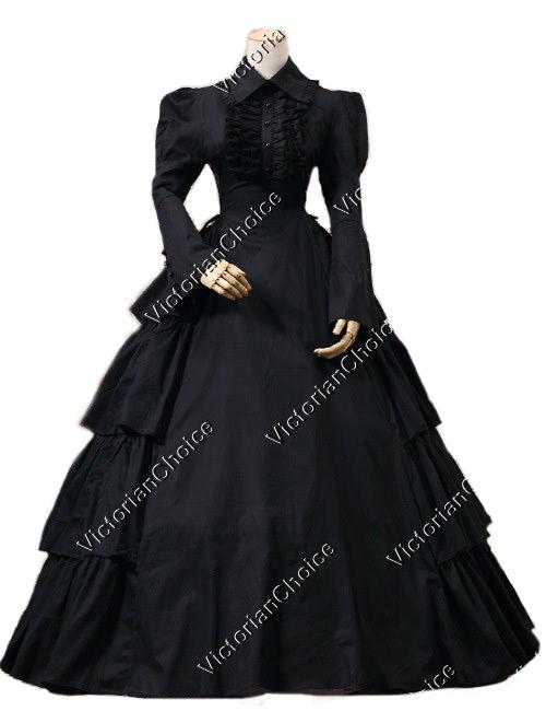 Victorian Gothic Black Dress Ball Gown