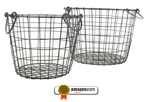 Darby Wire Basket - Round -Set of 2